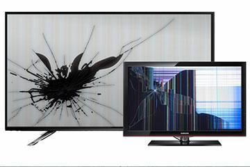 разбита матрица телевизора